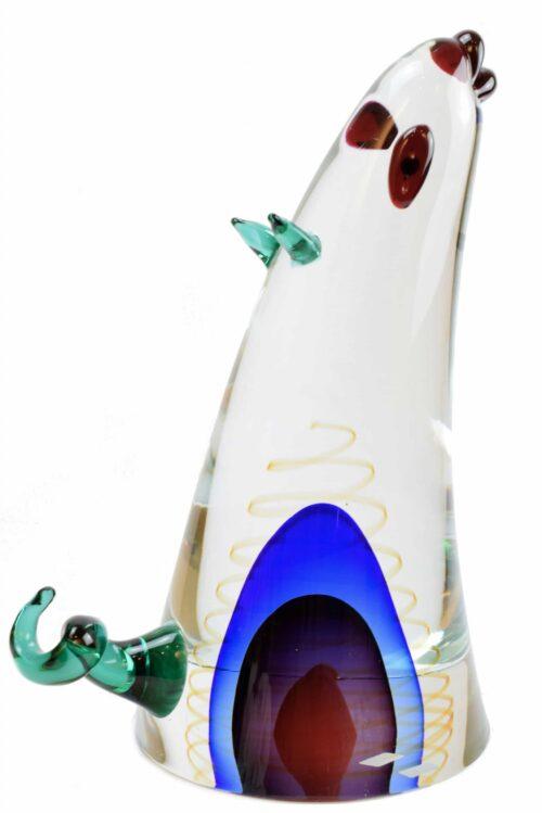 scultura topo in vetro di murano