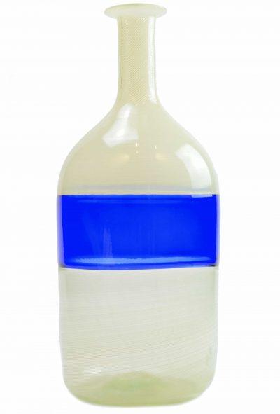 Murano glass vase incalmo with filigrana