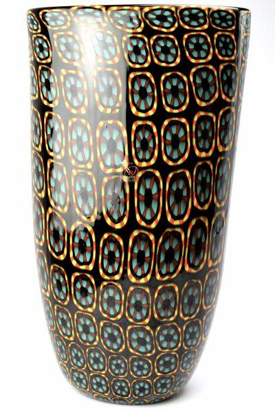 Murano glass vase eyes
