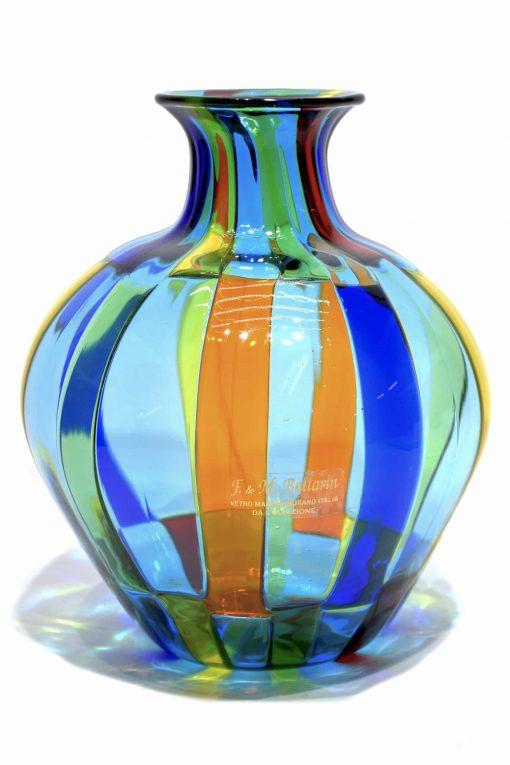 vaso pezzato vetro di murano