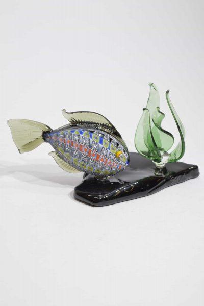 Acquario con pesce in vetro di murano