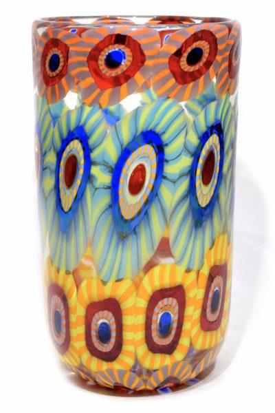 Murano glass vase murrine