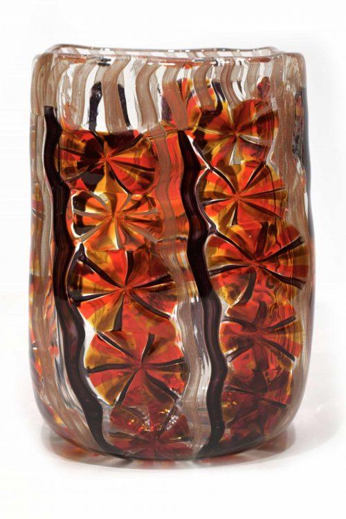 vaso stellato di vetro di murano