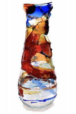 Vaso Sbruffi in vetro di murano