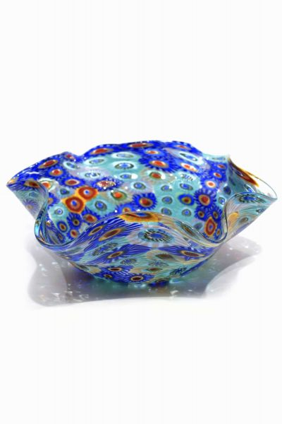 Murano glass murrine bowl