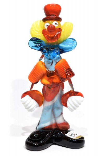 clown in vetro di murano