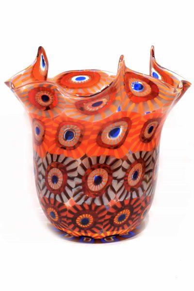 Murano glass vase handkerchief