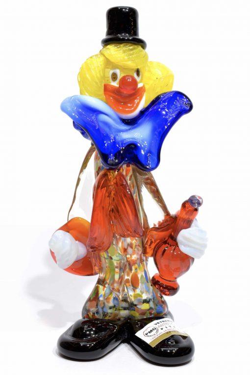 clown in vetro di murano