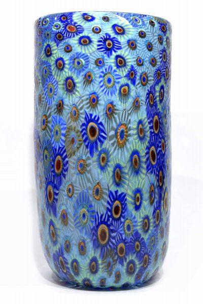 Murano glass vase with murrine