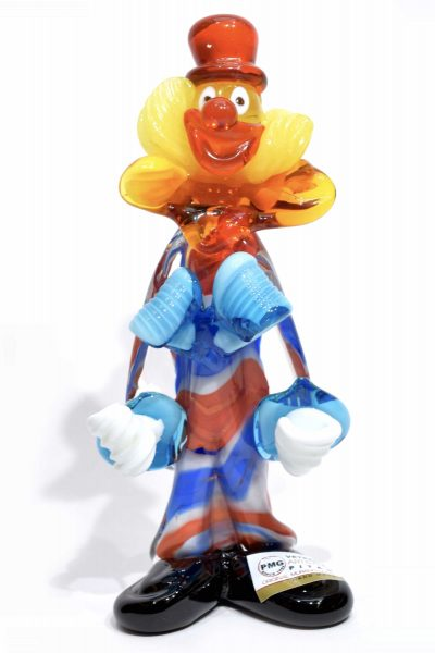 clown clown in murano glass