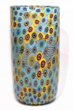 vaso con murrine in vetro di murano glass vase