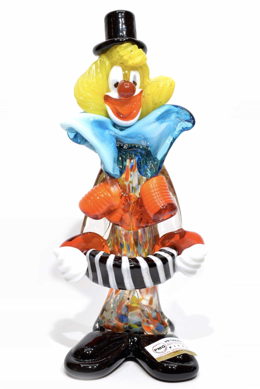 pagliaccio in vetro di murano - murano glass clown
