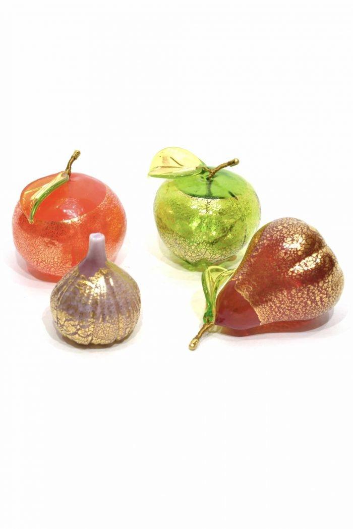 frutta in vetro di murano