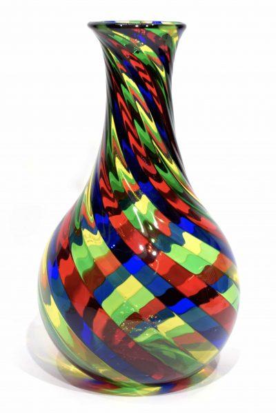 vaso filigrana in vetro di murano