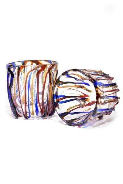 bicchieri goti in vetro di murano