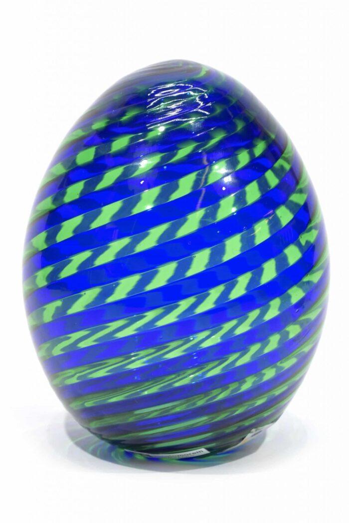 uovo in filigrana in vetro di murano