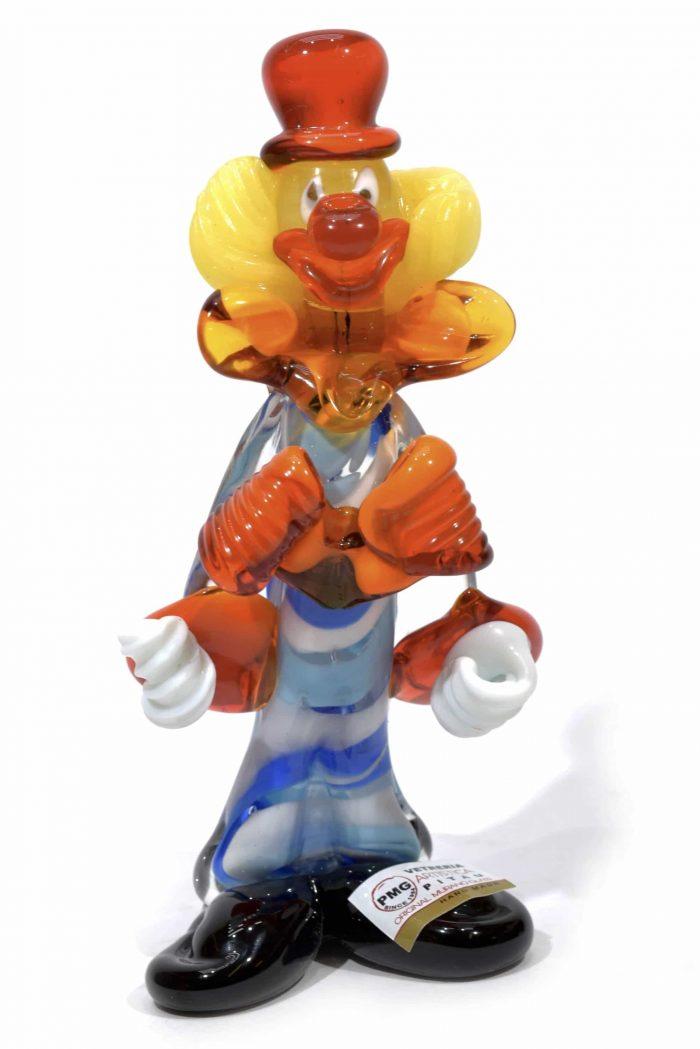 pagliaccio clown in vetro di murano