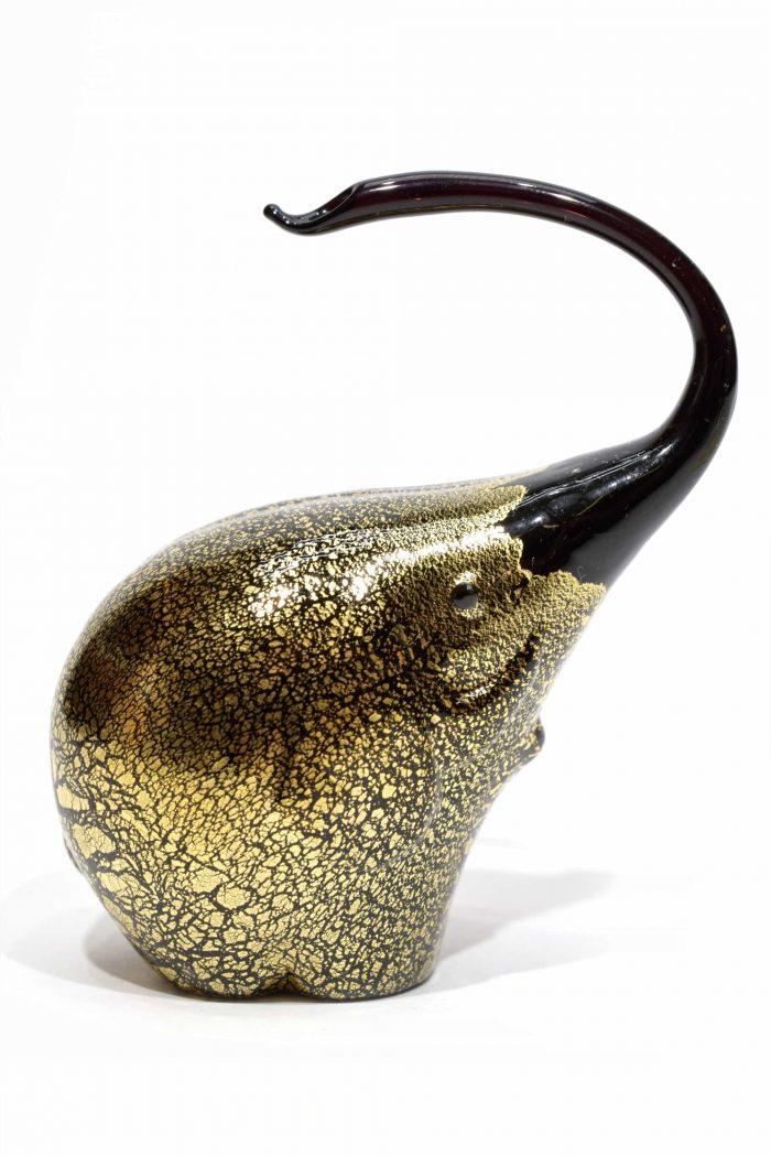 elefante in vetro di murano