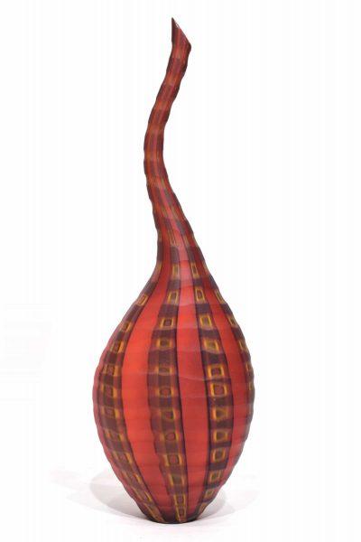 vaso battuto da collezione in vetro di murano