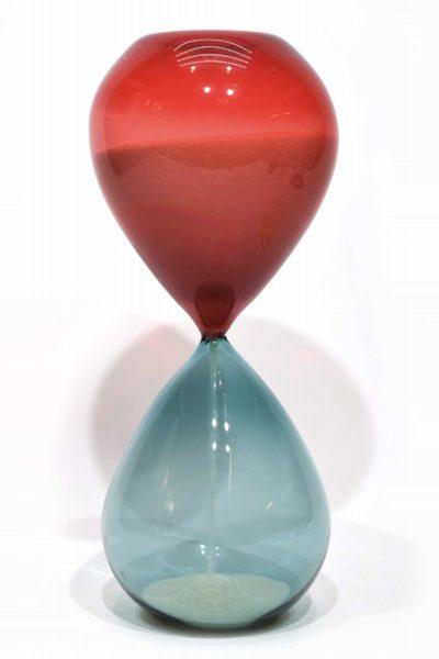 murano glass hourglass signed