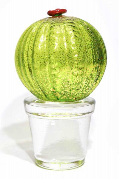 murano glass sculpture cactus
