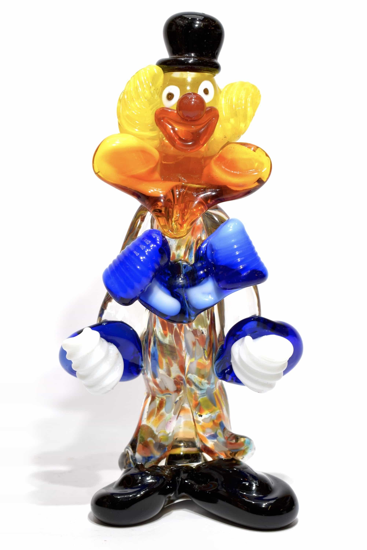 pagliaccio in vetro di murano glass clown