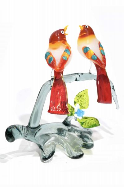 ramo con uccelli in vetro di murano glass tree birds
