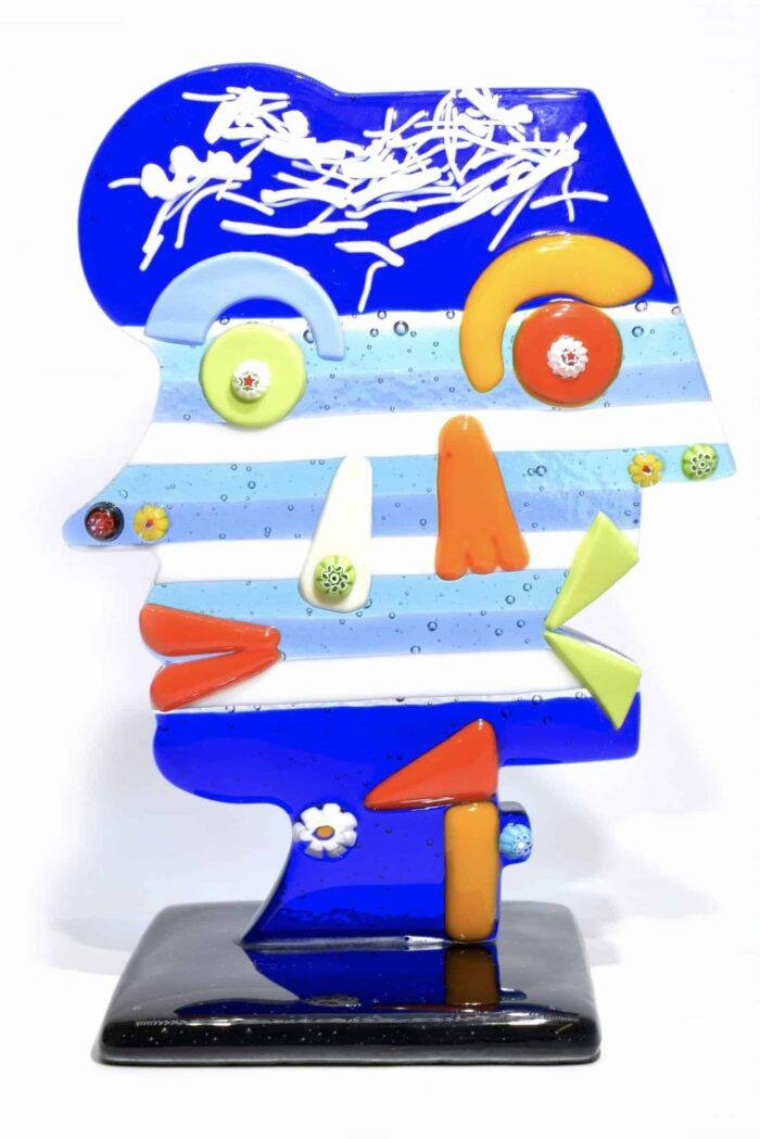 scultura picasso in vetro di murano glass picasso sculpture