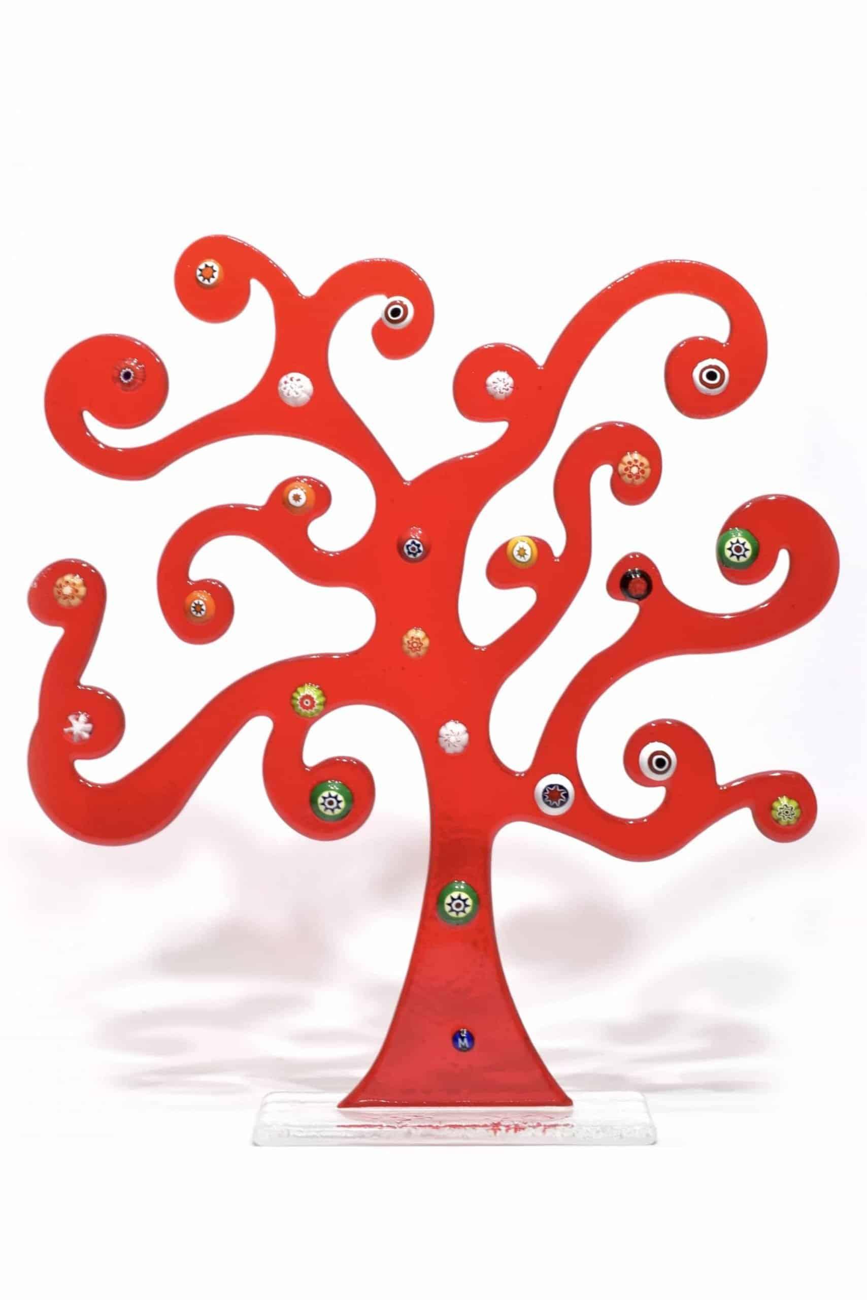 albero della vita di klimt in vetro di murano glass life tree