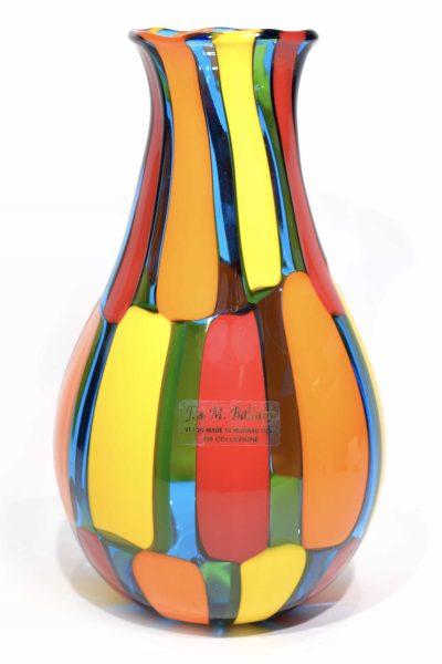 vaso pezzato in vetro di murano glass pezzato vase