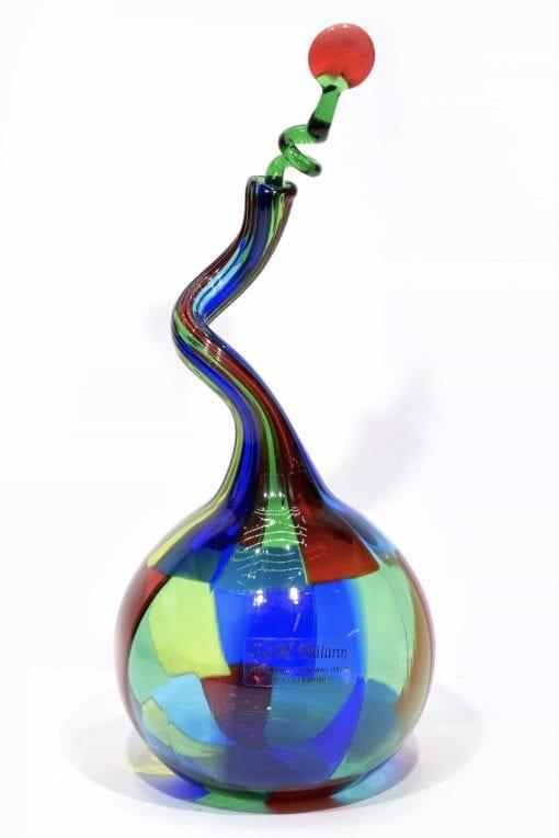 bottiglia pezzata in vetro di murano glass pezzato bottle