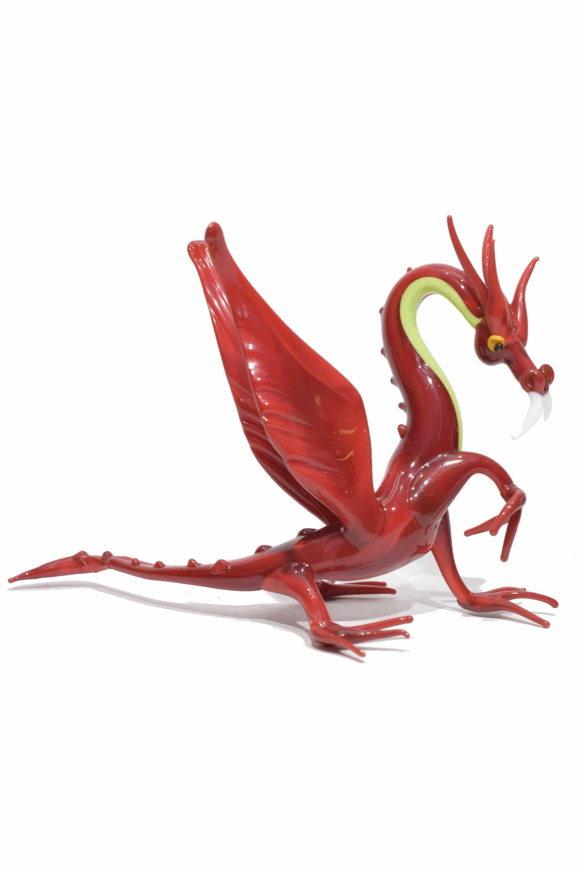 drago scultura in vetro di murano