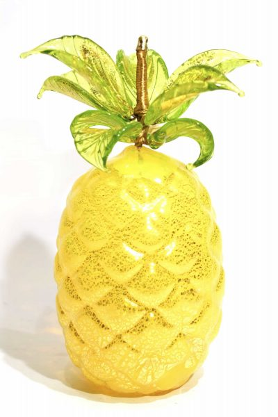 pineapple fruit in murano glass