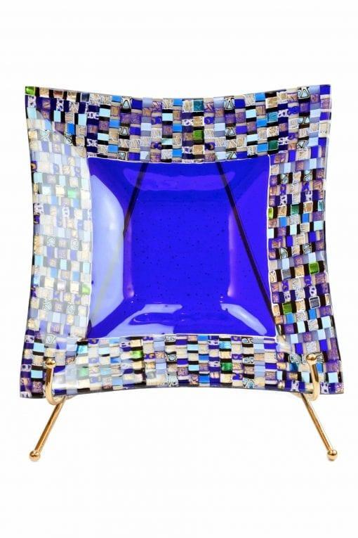 piatto mosaico in vetro di murano glass plate