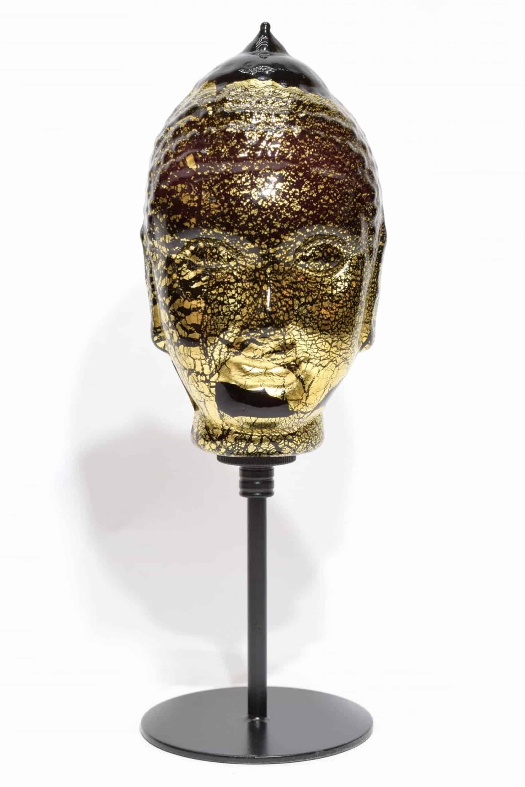 scultura buddha in vetro di murano glass sculpture