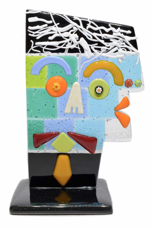 scultura picasso in vetro di murano glass sculpture