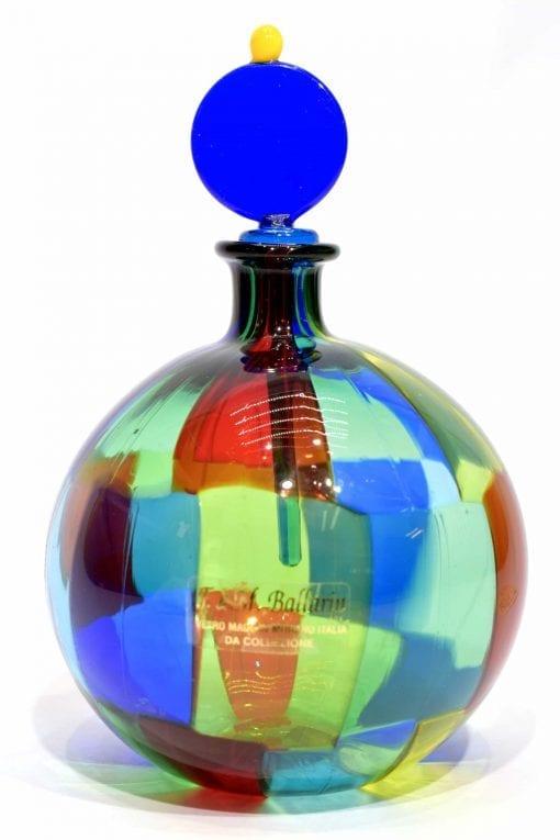 bottiglia pezzata in vetro di murano glass bottle