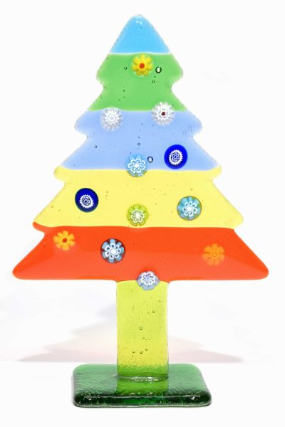 albero di natale in vetro di murano glass christmas tree murrine