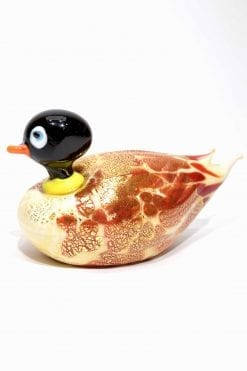 animale papera in vetro di murano glass animal duck
