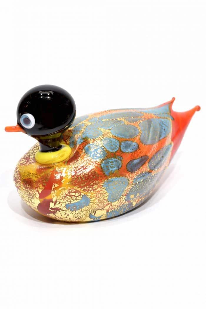animale papera in vetro di murano glass animal duck