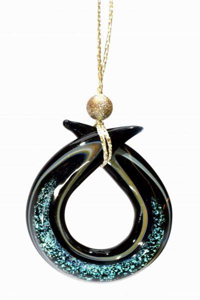 pendente in vetro soffiato di murano glass jewellery