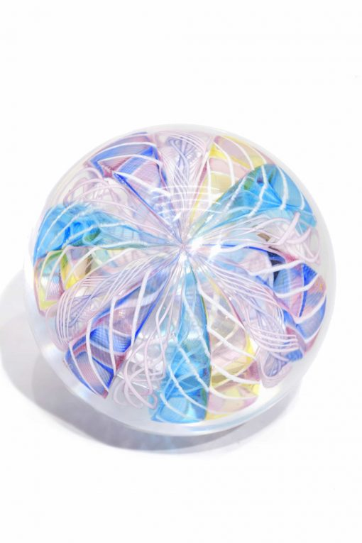 fermacarte vintage in vetro fi murano glass paperweight