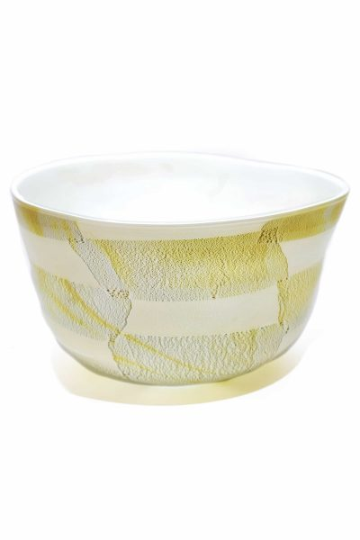 centrotavola in vetro si murano con foglia oro