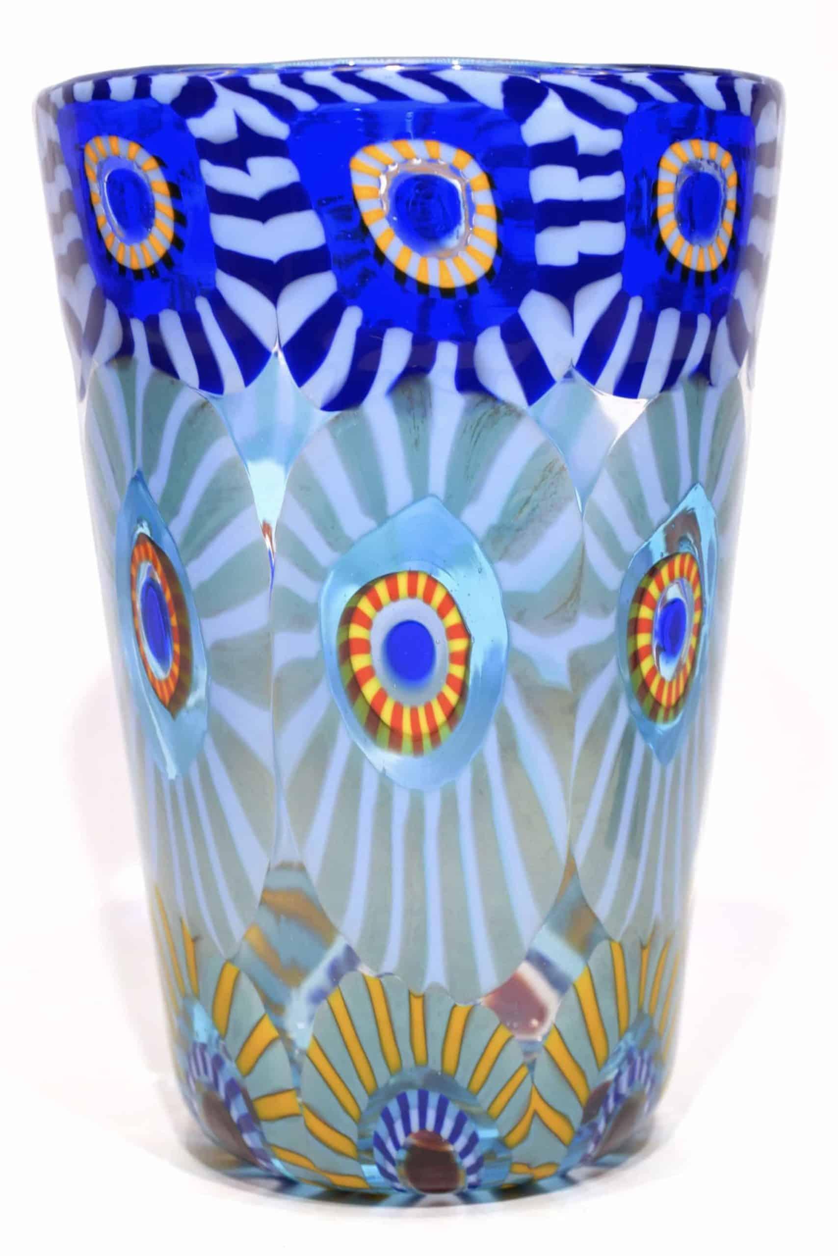 bicchiere in vetro di murano glass