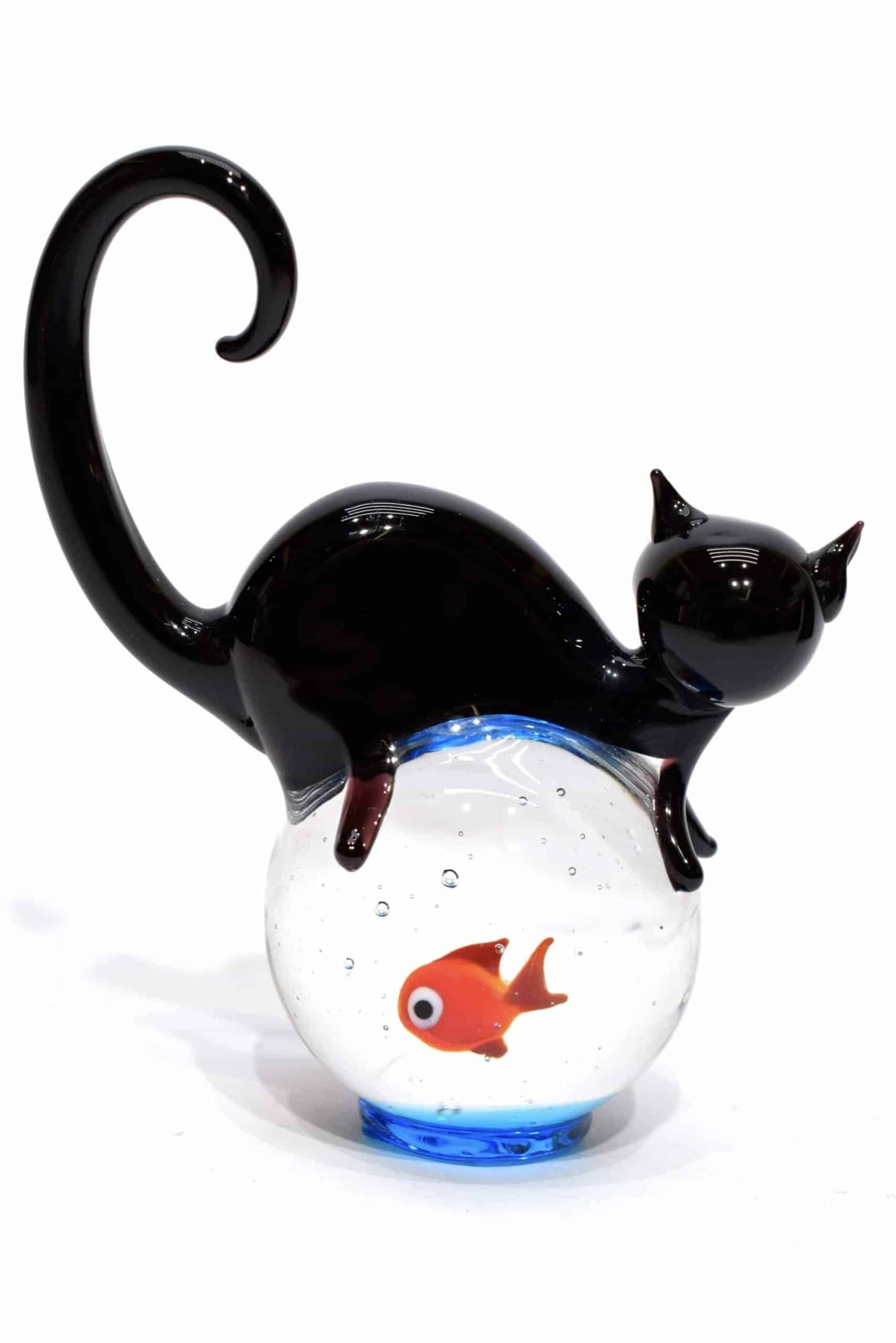 acquario gatto in vetro di murano