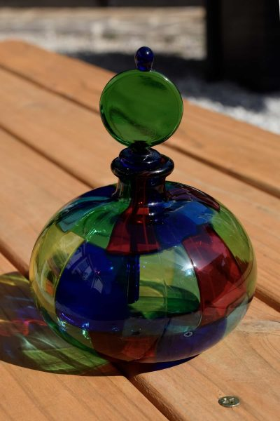 bottiglia in vetro di murano