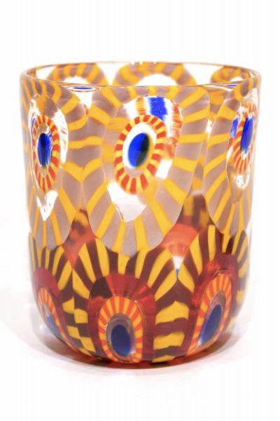 bicchiere goto in vetro soffiato a murano
