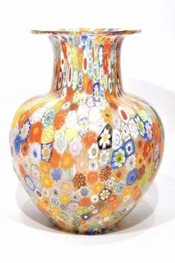 vaso murrine millefiori in vetro di murano