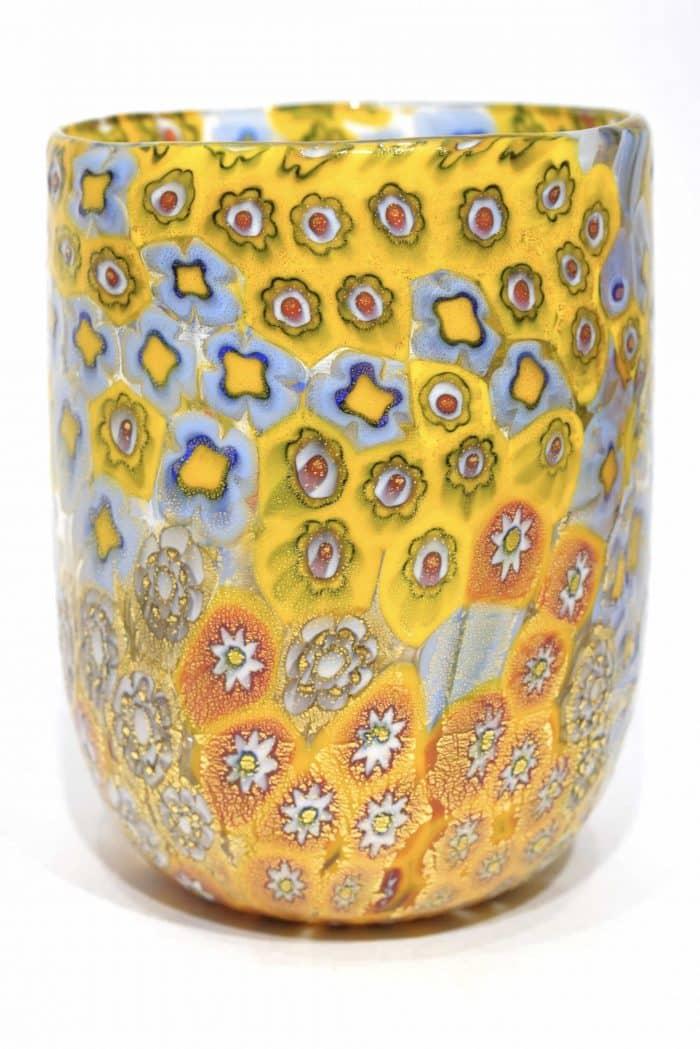 bicchiere murrine in vetri di murano