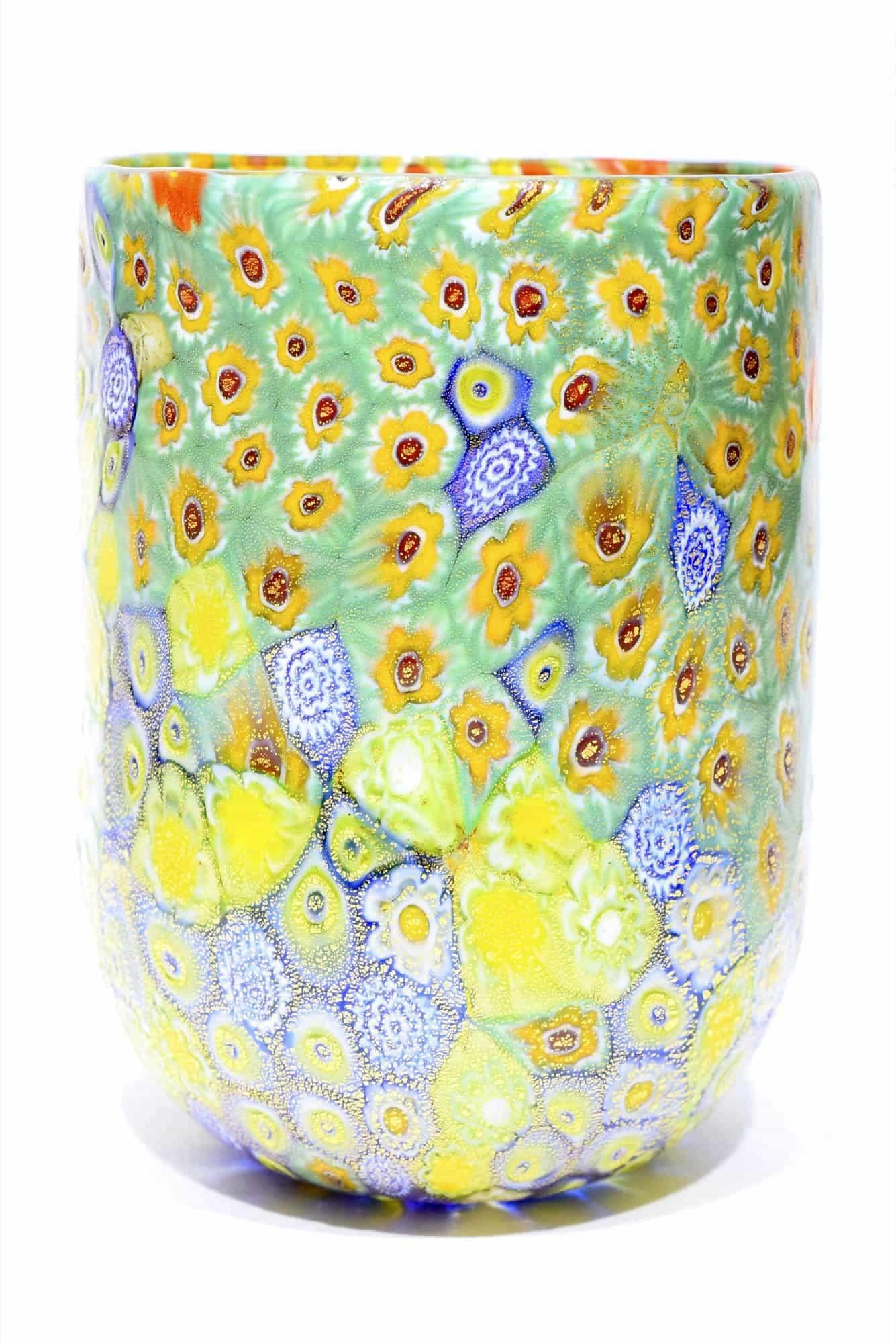 bicchiere murrina in vetro di murano